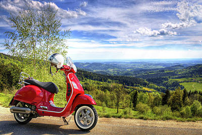 Photograph - Vespa Country Ride by Movie Poster Prints
