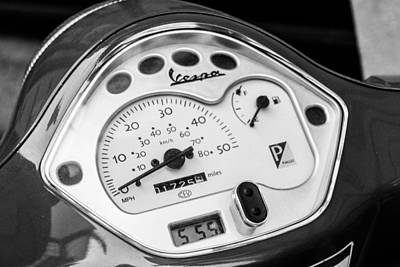 Photograph - Vespa Gauges by SR Green