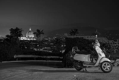 Photograph - Vespa In Florence Italy  by John McGraw