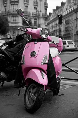 Vespa In Pink Art Print