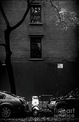 Photograph - Vespa Parking In Nyc by James Aiken