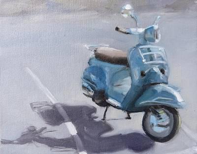Vespa Shadows Art Print