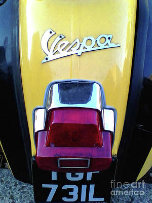 Photograph - Vespa Style by Rebecca Harman