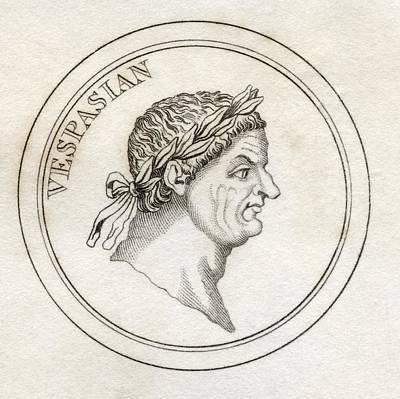 Flavius Drawing - Vespasian Titus Flavius Sabinus by Vintage Design Pics