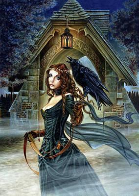 Raven Mixed Media - Vespertide by Alchemy