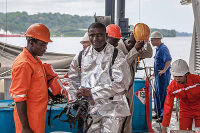 Photograph - Vessel Fireman by Gregory Daley  PPSA