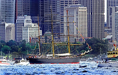 Photograph - Vessel From Bygone Age Still Sailing Sydney by Miroslava Jurcik