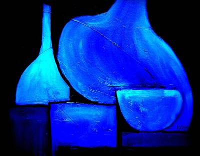 Painting - Vessels Blue by VIVA Anderson