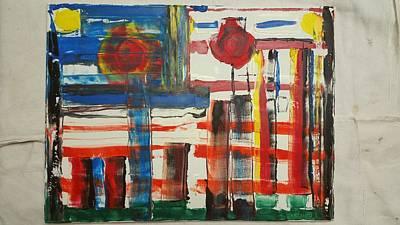 Bpd Painting - Happy Skies by Ronald Carlino Jr