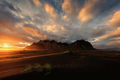 Photograph - Vestrahorn by Dominique Dubied