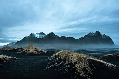 Photograph - Vestrahorn Mountain Evening by Scott Cunningham