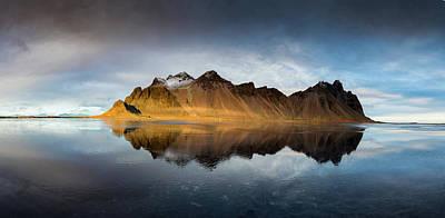 Photograph - Vestrhorn Pano by Allen Biedrzycki