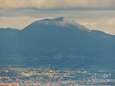Photograph - Vesuvius In Winter by Laurie Morgan