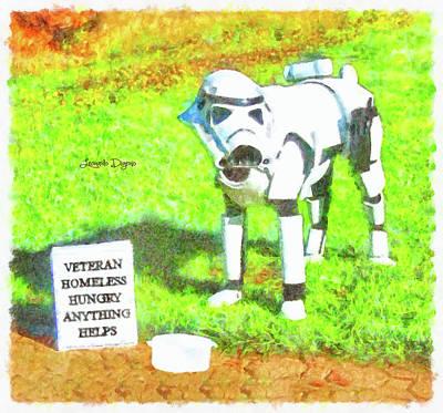 Veteran Painting - Veteran Dogtrooper by Leonardo Digenio