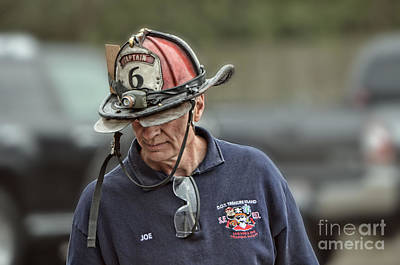 Portrait Photograph - Veteran Fire Fighter by Jim Fitzpatrick