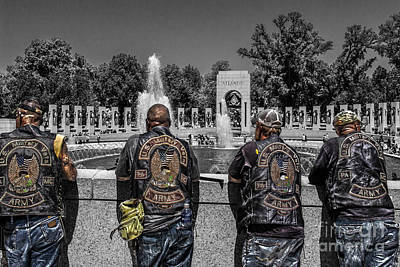 Veterans At The Wwii Memorial Art Print by Tom Gari Gallery-Three-Photography