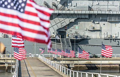 Photograph - Veterans Day At Uss Yorktown by Donnie Whitaker