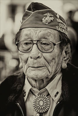 Whimsically Poetic Photographs - Veterans Day NYC 11 11 11 Navajo Code Talker Samuel Tom Holiday by Robert Ullmann