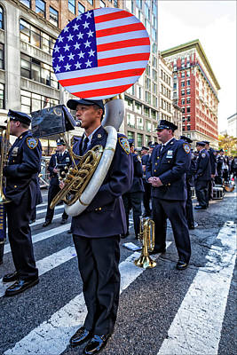 Marching Band Photograph - Veterans Day Nyc 11_11_16 Sousaphone by Robert Ullmann