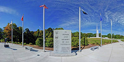 Veterans Freedom Park, Cary Nc. Art Print by George Randy Bass