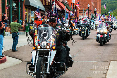 Photograph - Veteran's Freedom Ride In Cripple Creek by Steve Krull