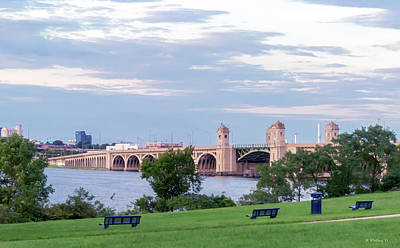 Photograph - Veteran's Memorial Bridge by Brian Wallace