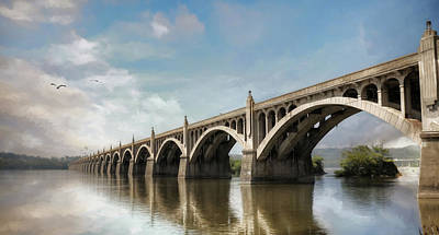 Photograph - Veterans Memorial Bridge by Lori Deiter