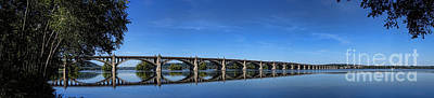 Susquehanna River Photograph - Veterans Memorial Bridge On The Susquehanna River by Olivier Le Queinec