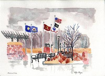 Painting - Veteran's Memorial Park by Rodger Ellingson