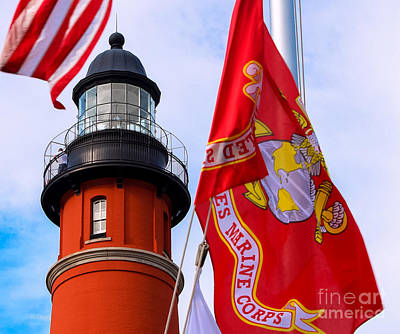 Photograph - Veterans Memorial Ponce De Leon Inlet Lighthouse by Rene Triay Photography