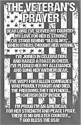 Photograph - Veteran's Prayer by Rob Hans