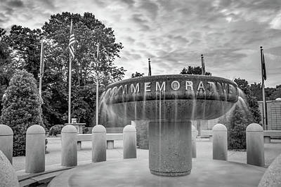 Photograph - Veterans Wall Of Honor Memorial - Bella Vista Arkansas - Black And White by Gregory Ballos