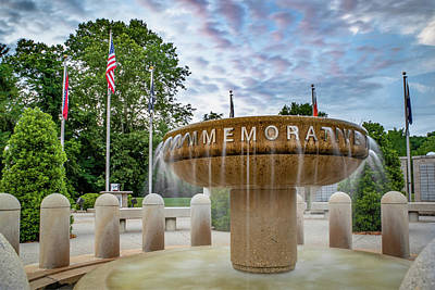 Photograph - Veterans Wall Of Honor Memorial - Bella Vista Arkansas by Gregory Ballos