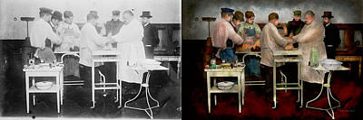 Best Friend Photograph - Veterinarian - Saving My Best Friend 1900s - Side By Sdie by Mike Savad