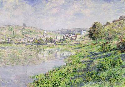 Reflected Light Painting - Vetheuil by Claude Monet