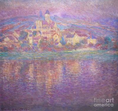 Vetheuil Photograph - Vetheuil, Sunset, Soleil Couchant, By Claude Monet, Circa 1900,  by Peter Barritt