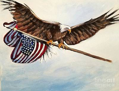 Punta Gorda Painting - Vetrans Eagle by Larry Palmer