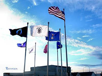 Photograph - Vets Field 2 - Flags At Long Beach Wa by Sadie Reneau