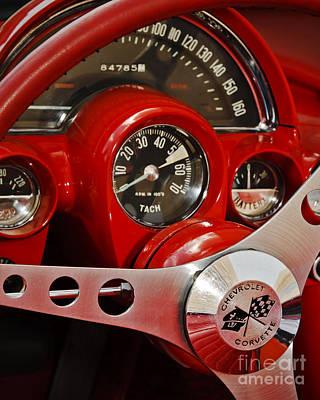 Antique Automobiles Photograph - Vette Dash by Dennis Hedberg