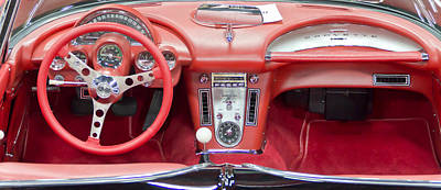 Barrett Jackson Wall Art - Photograph - Vette Interior by Wayne Vedvig