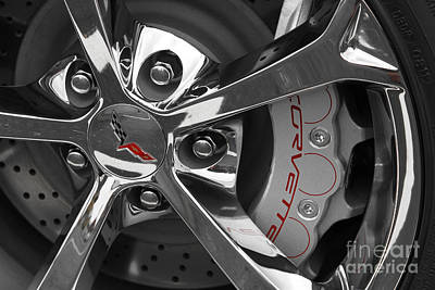 Vette Wheel Art Print by Dennis Hedberg