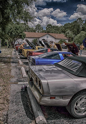 Photograph - Vettes In A Row by Judy Hall-Folde