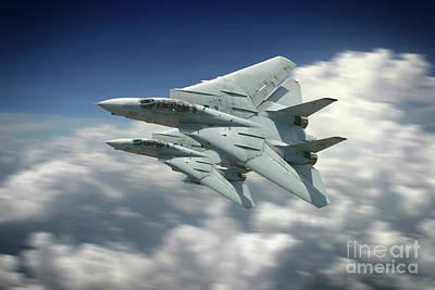 F-101 Digital Art - Vf-101 Grim Reapers by J Biggadike