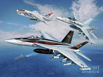 F-18 Digital Art - Vfa-147 Argonauts Legacy by Stu Shepherd