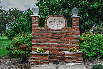 Photograph - Vfw National Home Sign by Grace Grogan
