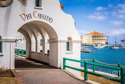 Avalon Photograph - Via Casino Arch Catalina Island by Paul Velgos
