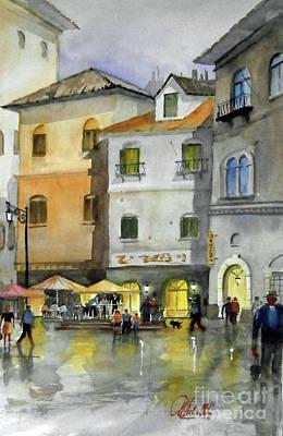 Painting - via Corso by Gerald Miraldi
