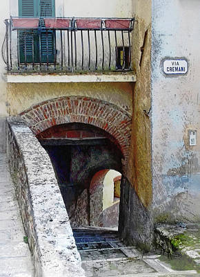 Photograph - Via Cremani Archways Cetona Tuscany by Dorothy Berry-Lound