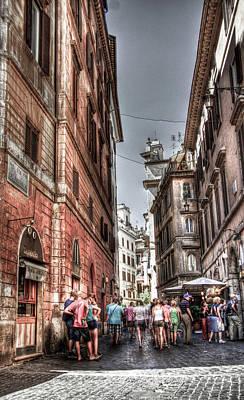 Trastevere Photograph - Via Del Pantheon by Andrea Barbieri