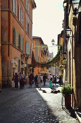 Photograph - Via Della Lungaretta by JAMART Photography